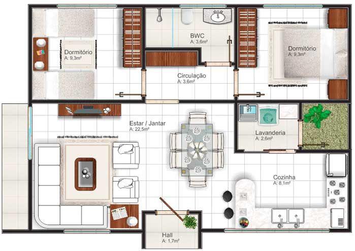 planos de casas de 9 por 15
