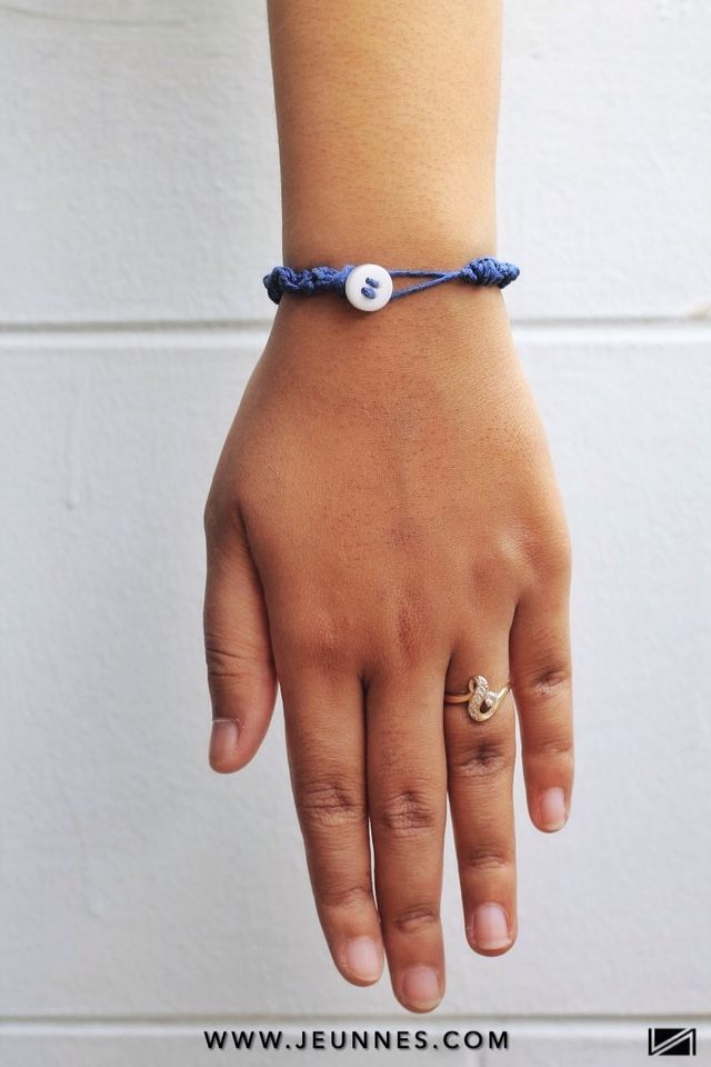 LADIES | BRACELET | BUTTON BOND NAVY only 9k idr  Shop more:  WWW.JEUNNES.COM