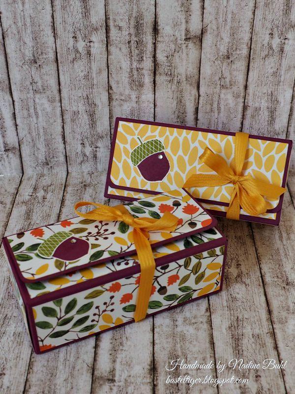 Basteltiger´s Welt: Sonntagsvideo: Herbstliche Box mit dem Gift Bag Punch Board