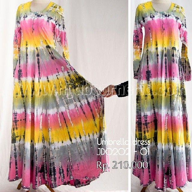 Baju Pelangi Umbrella Dress Tie dye - Atisomya Hijab