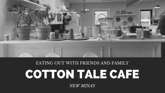 A great place to eat out that has wholesome food and great coffee - the Cotton Tale Cafe in New Minas. You don't need kids to eat there!