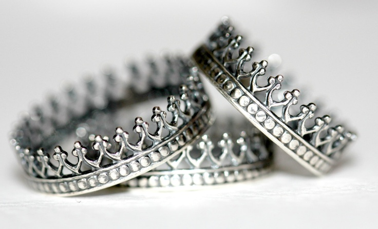 Antique crown ring. sterling silver ring. Queen's crown ring. stack ring.. $30.00, via Etsy.
