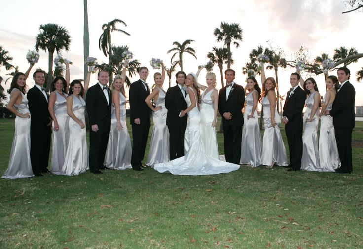 PALM BEACH, FL - NOVEMER 12:  (MINIMUM PRICING APPLIES, PLEASE CONTACT YOUR ACCOUNT EXECUTIVE)  Newlyweds Donald Trump Jr. and Vanessa Haydon pose with the groomsmen and bridesmaids after the wedding ceremony of Donald Trump Jr. and Vanessa Haydon at the Mar-a-Lago Club November 12, 2005 in Palm Beach, Florida.  (Photo by Michelle McMinn Photography/Getty Images) via @AOL_Lifestyle Read more…