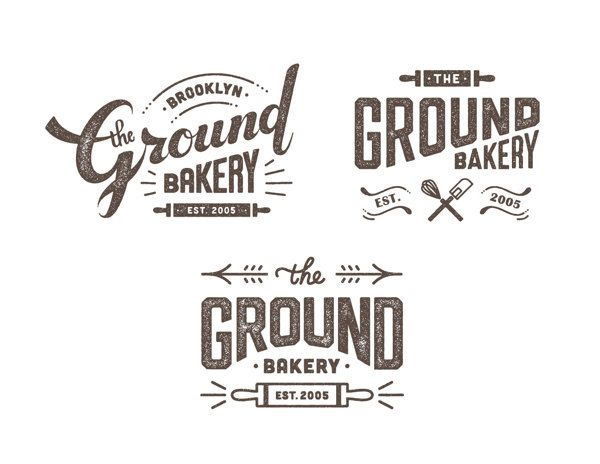 the ground bakery logo design by nana nozaki via