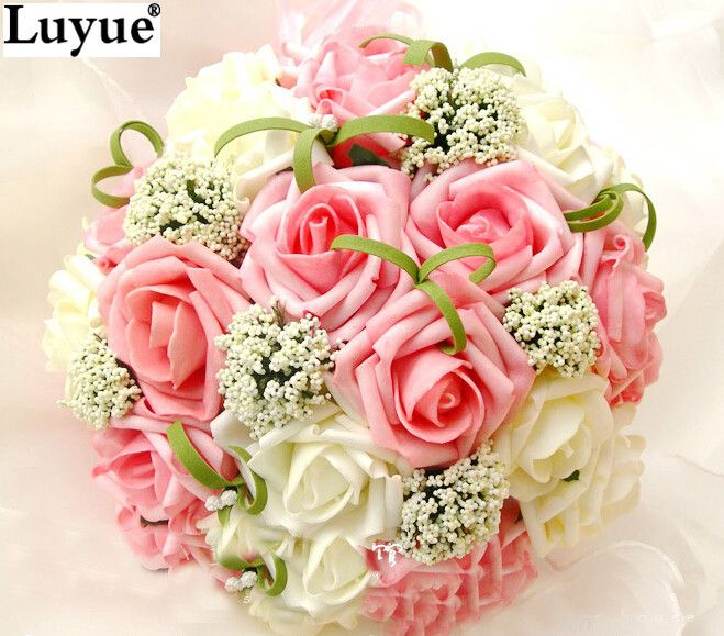 Cheap flower girl jewelry sets wedding, Buy Quality flower usb flash drive directly from China bouquet blue Suppliers: 	Bride holding flowers, New arrival Romantic Wedding Colorful Bride 's Bouquet,red pink blue and purple bridal bouquets
