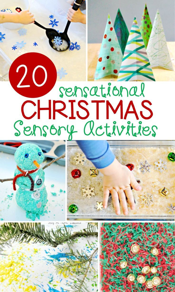 What fun Christmas activities for kids! These 20 sensational Christmas sensory activities are a great addition to the holiday season.