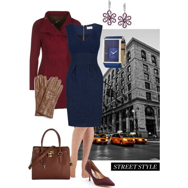 """""""Street style - grabbing Chinese takeout after a busy day at the office"""" by maria-kuroshchepova on Polyvore"""