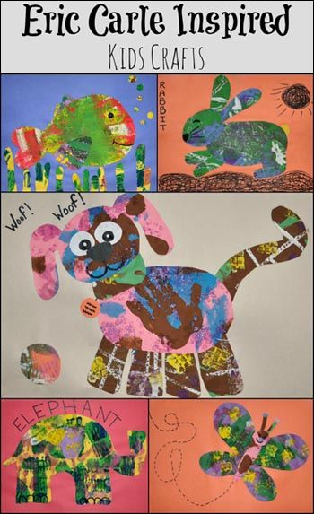 Eric Carle Inspired Animal Crafts #kids #crafts @Shan McMahon Lump Toys