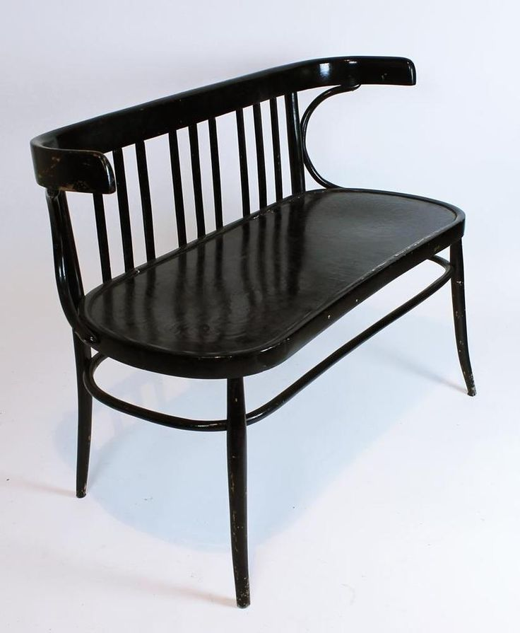 vintage 1930 bentwood thonet two seater bench settee
