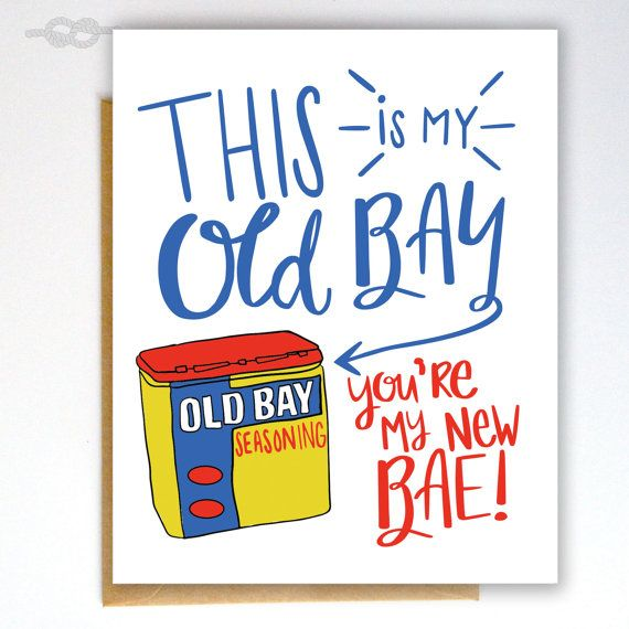 Funny Naughty Card Birthday Card Bae Card Old Bay by KnottyCards