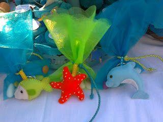 """felt party/baptism favours """"under the sea"""""""