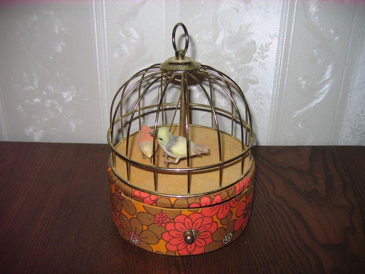 Antique Bird Cage Music Box