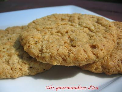 Les gourmandises d'Isa: BISCUITS À L'AVOINE ÉPICÉS ( SPICY DAD'S )