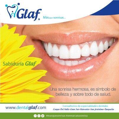 ¿Tu sonrisa es sana? ¡Ven a Glaf y enmarca tu sonrisa!  #dentista #df #Glaf #sonrisa #mujer #familia