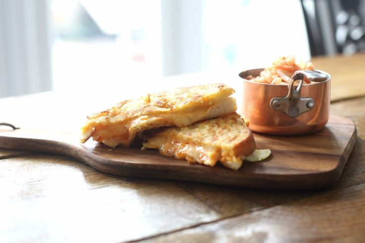 Cheese, Apple and Kimchi Cheese Toastie -The addition of Kimchi and thinly sliced granny smith apple transformed your typical cheese toastie into a unique and flavourful sandwich. Go ahead and make it, I guarantee you'll love it and be making it again, and again.