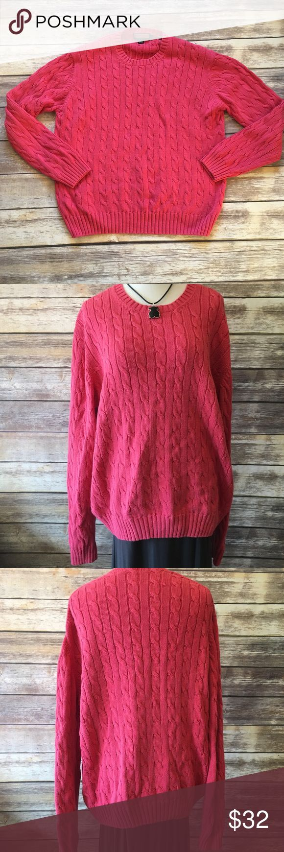 """Vineyard Vines Loose Knit Sweater Vineyard Vines loose Knit sweater in pink. Made of 100% cotton. Measures from pit to pit 22""""/ length 23"""". Vineyard Vines Sweaters"""