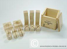 Holzbausteine der Spielgabe 5B nach Goldammer