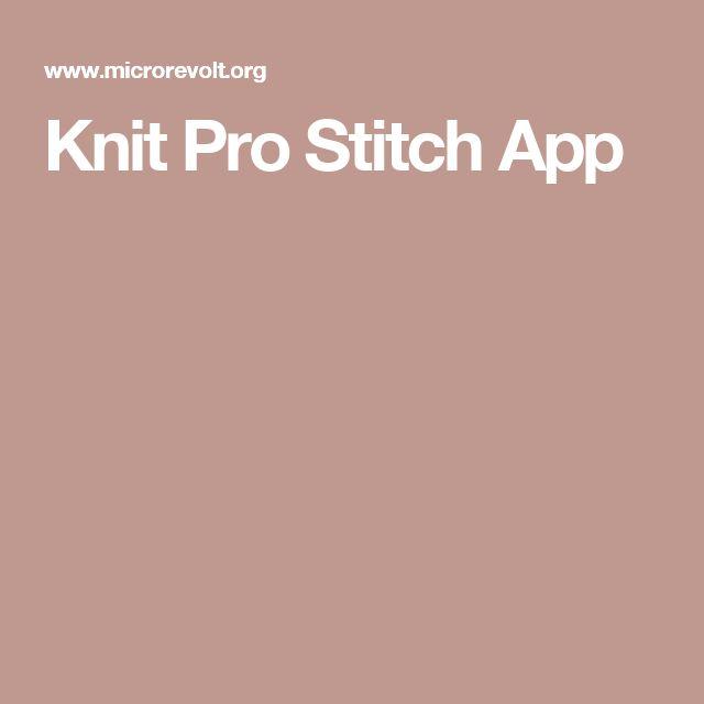 Knit Pro Stitch App