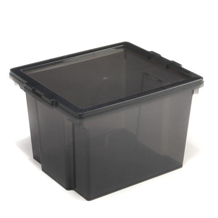 Bo te de rangement 10l graphite cubik les boites en plastique bo tes de rangement tout - Boite plastique cuisine ...