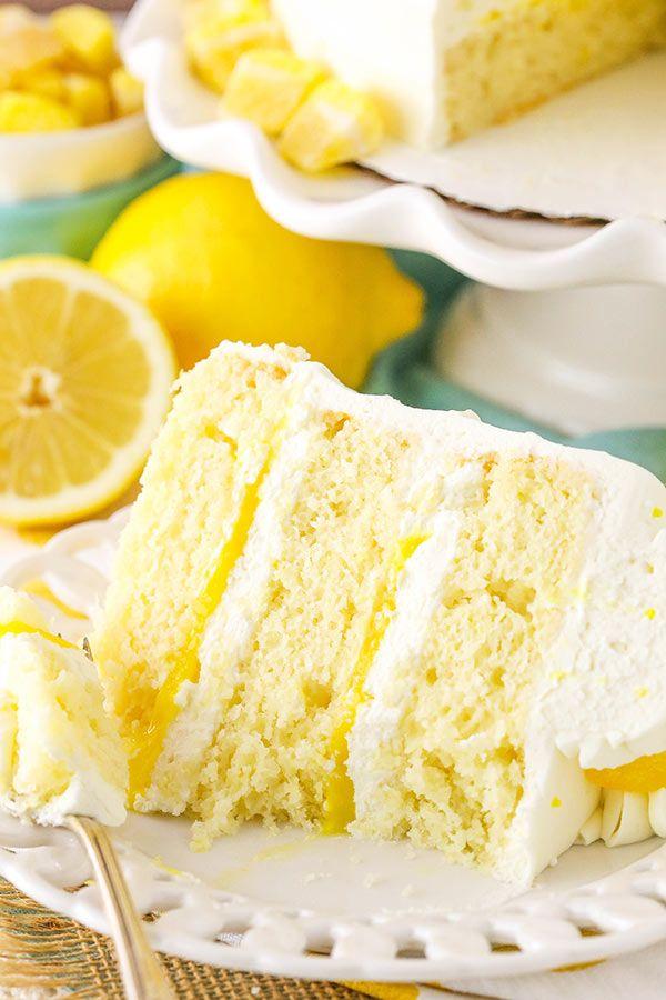 Lemon Mascarpone Layer Cake – ein leichter Zitronenkuchen mit Zitronenquarkfüllung …   – patisserie