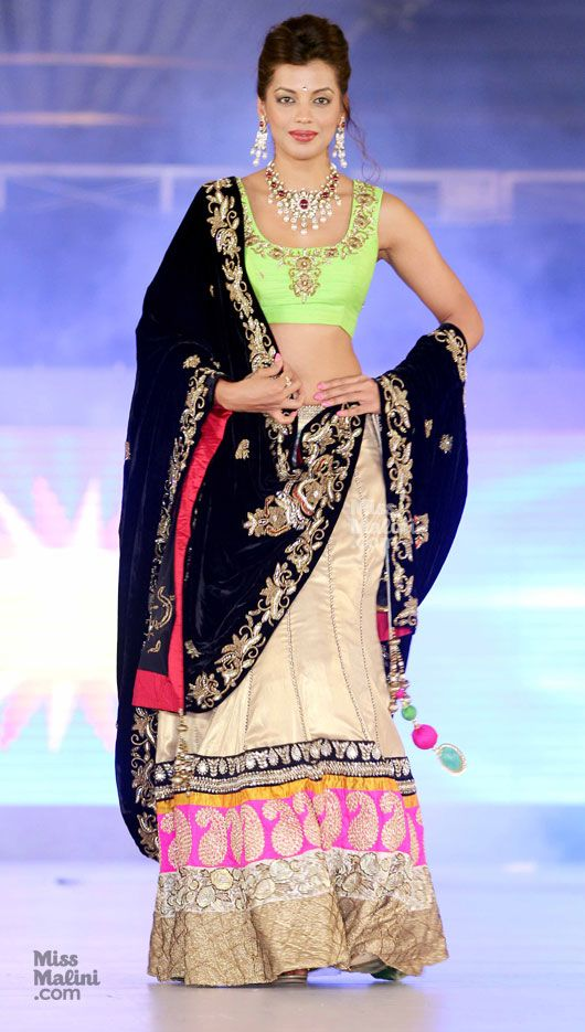 Black and Bright Lehenga. Indian Fashion. Indian Outfit. Lengha