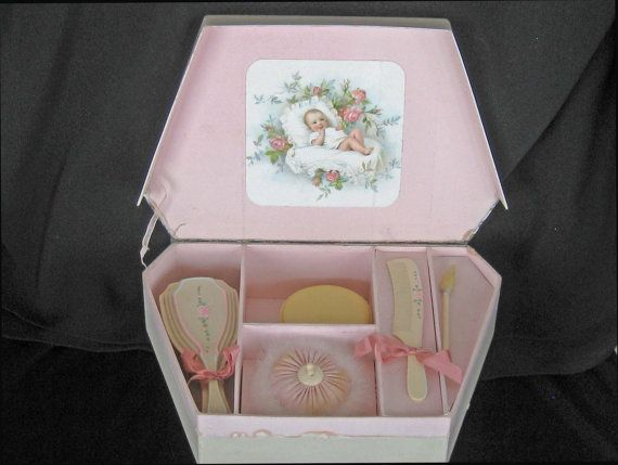 Very Vintage Baby's Toilette Boxed Set  Celluloid by KISoriginals, $189.00