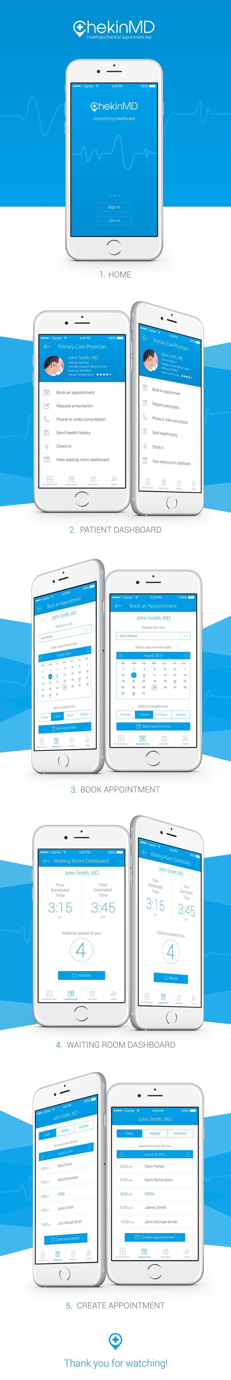 Healthcare/Medical Appointment App on Behance