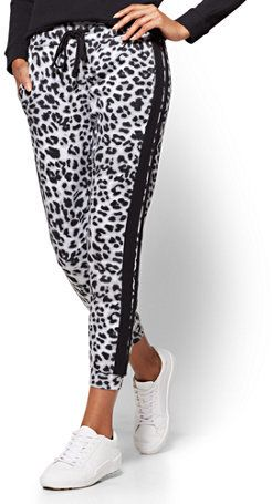 New York & Co. Soho Street - Slim Jogger Pant - Leopard Print