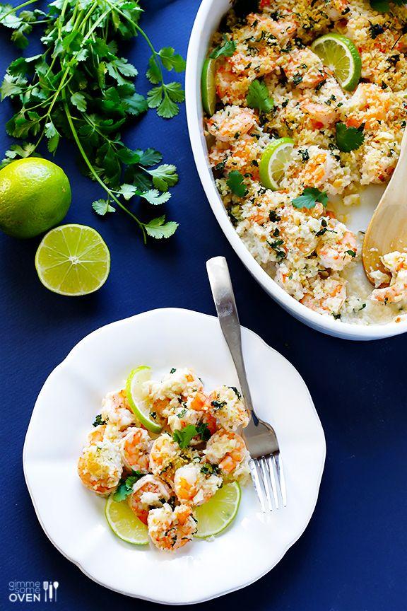 Cilantro Lime Baked Shrimp | gimmesomeoven.com