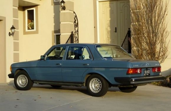 """1983 Mercedes Benz 240D. Ours was anthracite gray. Leased it new in May, 1983. 4 speed - """"roll your own"""" windows. Economy car!"""