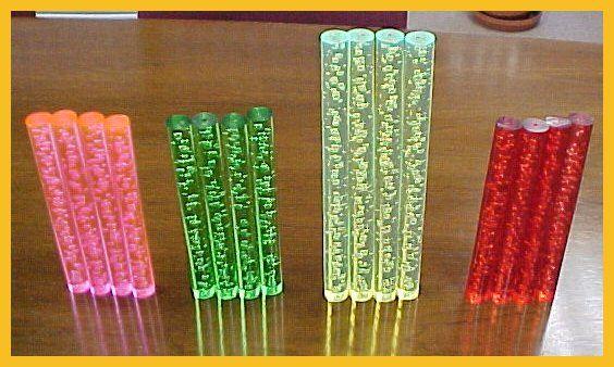 Acrylic Bubble Rod,ACRYLIC RODS, ACRYLIC TUBES, ACRYLIC TRIANGLES, ACRYLIC SPIRALS, ACRYLIC BARS