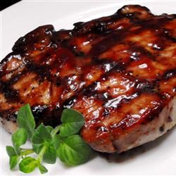 Grilled Pork Loin Chops, has the right balance of sweet, tang and general tastiness!
