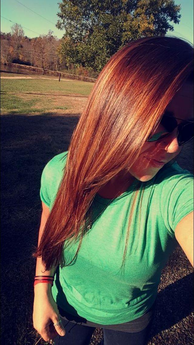 Autumn hair! Balayage hair painting fall colors caramel golden red