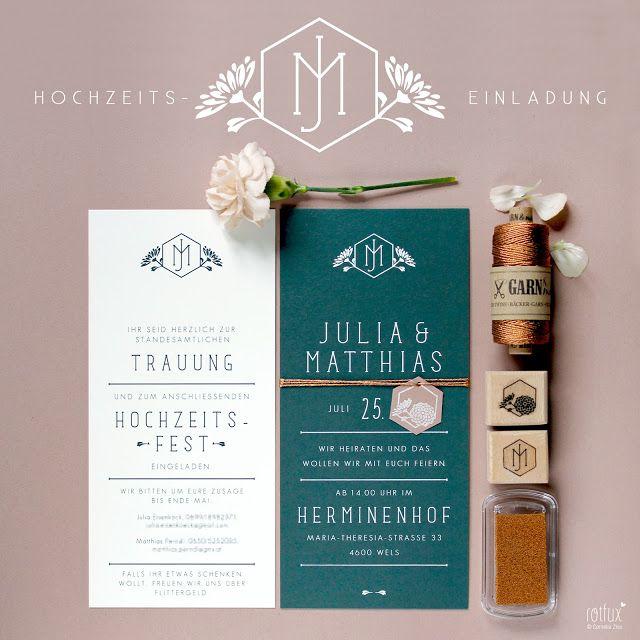 ROTFUX: HOCHZEITSEINLADUNG JULIA & MATTHIAS