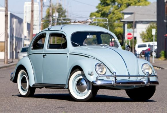 """'57Oval VW: """"This is a clean and dry California black plate car, with an exceptionally well documented history, having only one meticulous owner from 1957 until 2003."""