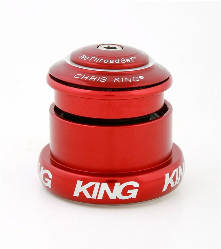Chris King headset, tapered. Red.