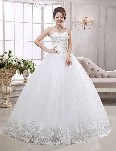 Svatební šaty Princess Na zem - Bez ramínek Organza – EUR € 99.99