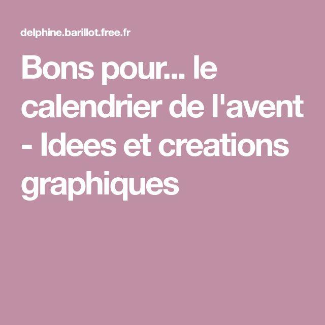 Bons pour... le calendrier de l'avent - Idees et creations graphiques