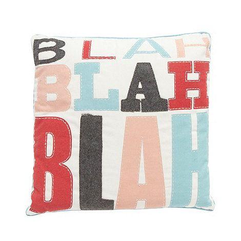 11 best ben de lisi bedding images on pinterest debenhams bedding ben de lisi home designer cream slogan print and applique cushion at debenhams gumiabroncs Choice Image