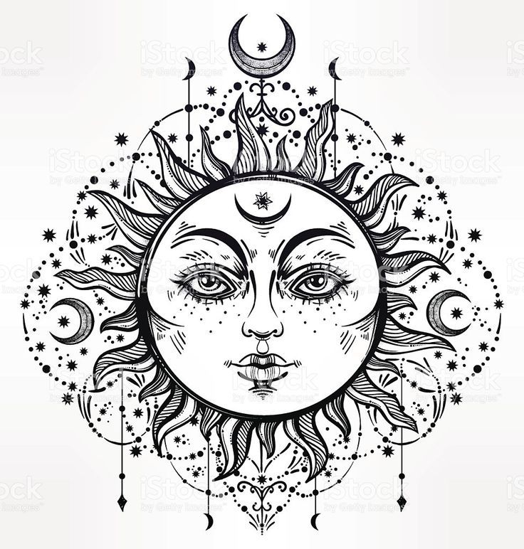Pin by Goddess GYPSEA on BOHO | Outline drawings, Sun ...