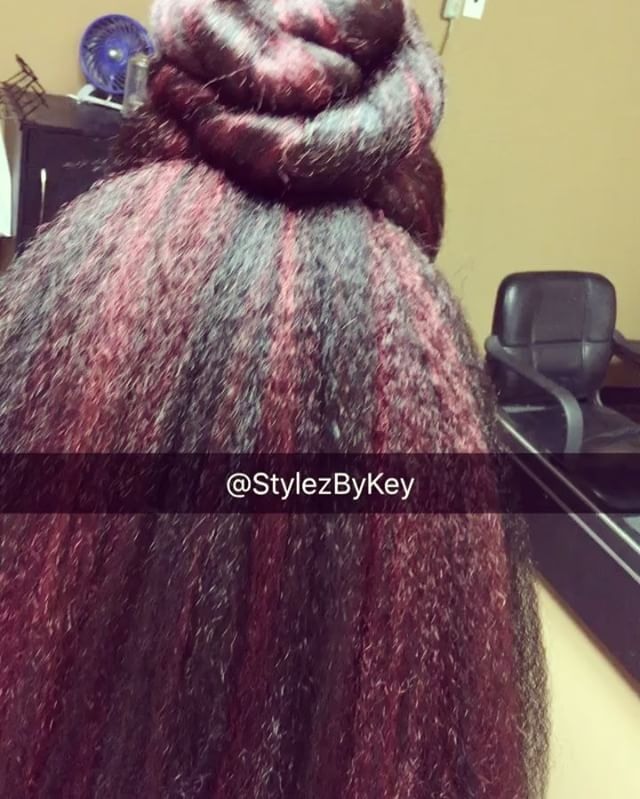 Crochet Braids Definition : Knotless Crochet install. ? I used 4 Packs of Afri Definition Braid ...