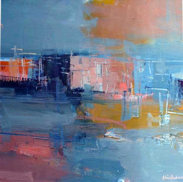 'Venice' by Mairi Clark Oil on board: 60 x 60 cm Signed