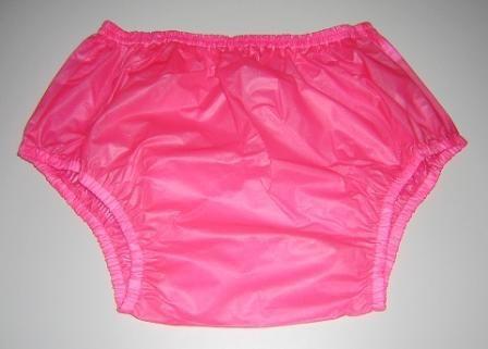 Freies verschiffen FUUBUU2201-Pink-XL-2PCS Pull auf kunststoff hosen unterwäsche männer boxer shorts männer pvc inkontinenz shorts
