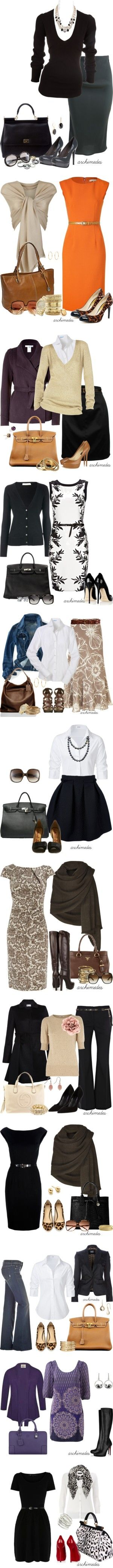 """Office Attire"" by archimedes16 on Polyvore- makes me want to work in an office LOL"