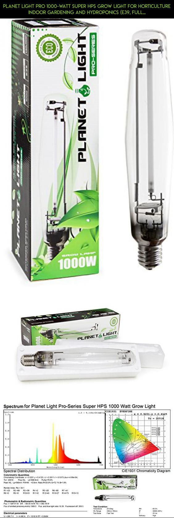 Planet Light Pro 1000-Watt Super HPS Grow Light for Horticulture Indoor Gardening and Hydroponics (E39, Full Spectrum, 140000 Lumen, 24000 Hour Lifespan #technology #lights #tech #fpv #drone #gardening #racing #parts #gadgets #shopping #products #kit #camera #plans