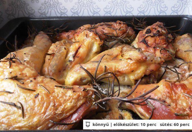 Sóágyon sült rozmaringos csirke