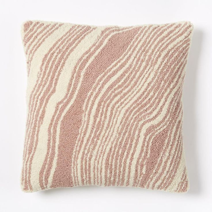 Looped Marble Cushion Cover - Rosette