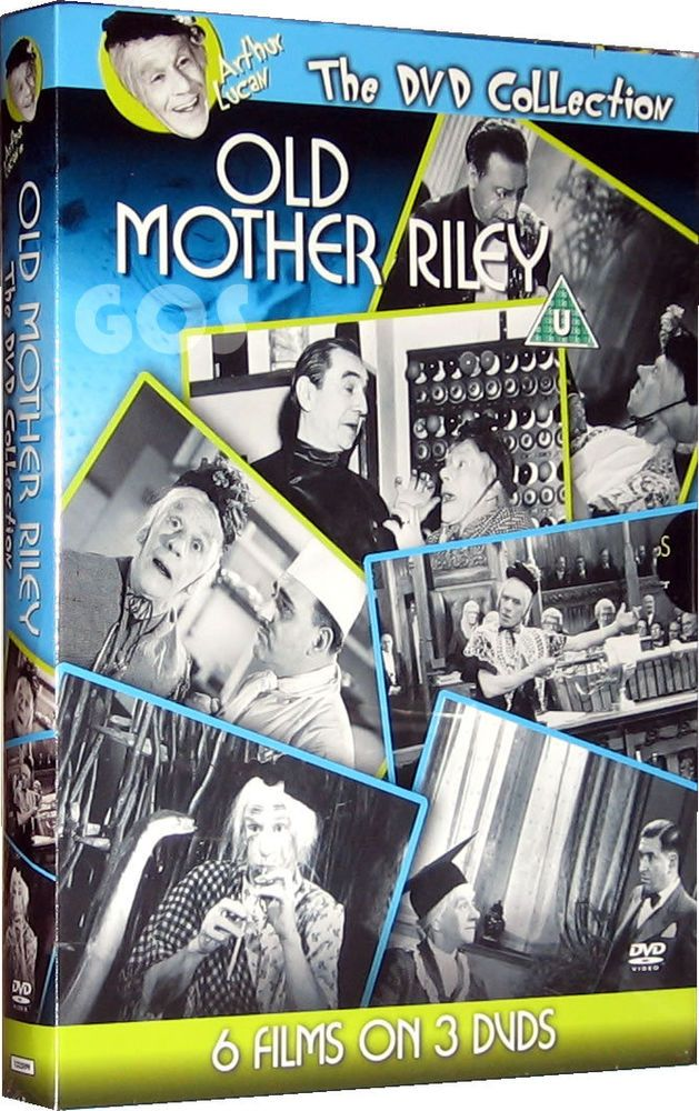 Old Mother Riley Boxset Collection of 6 Classic Films in B&W 3 DVDs New Sealed