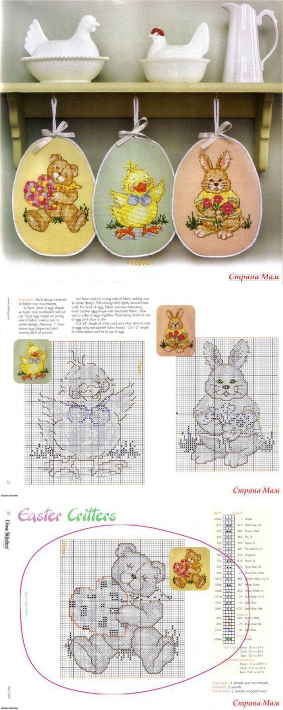 """Пасхальные пинкипы """"Easter Critters"""" - Бискорню и другие """"кривульки"""" - Страна…"""