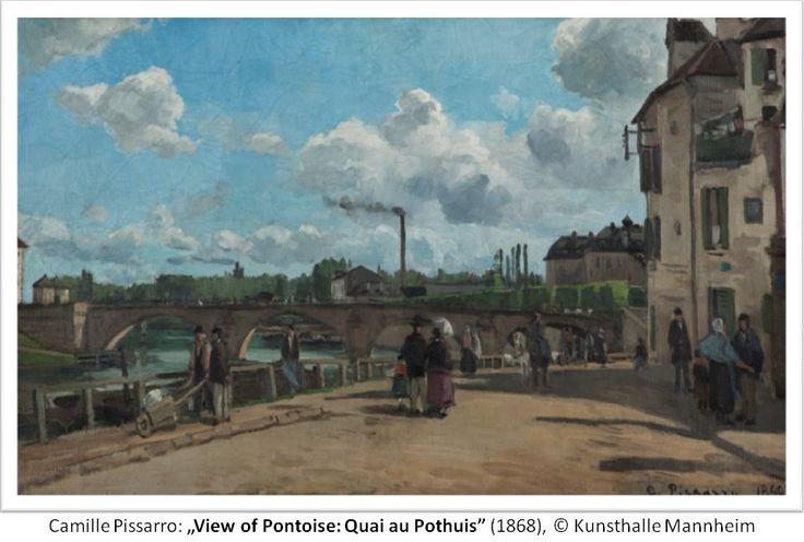 "Camille Pissarro: ""View of Pontoise: Quai au Pothuis"", 1868; © Kunsthalle Mannheim"